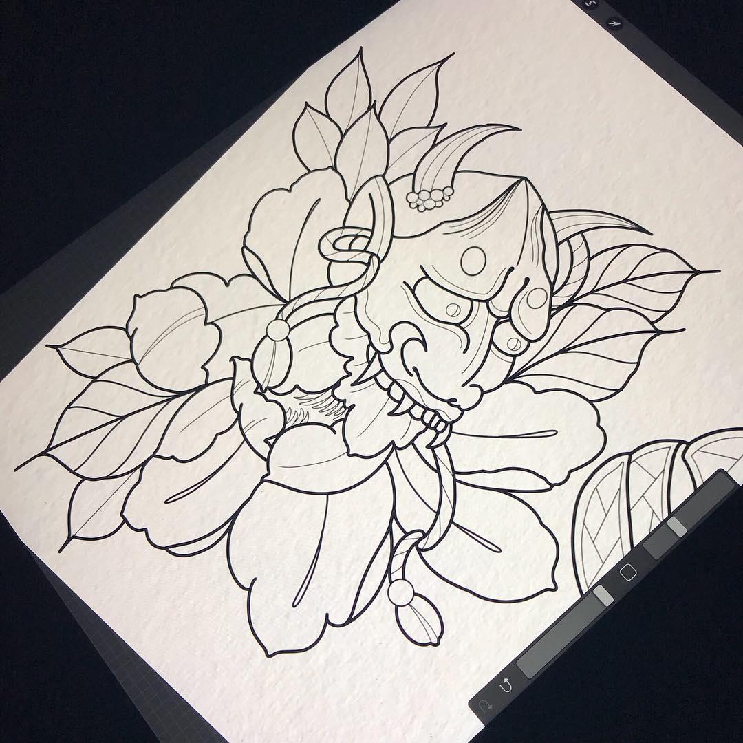 做水果行业的胡先生羊头骨纹身手稿